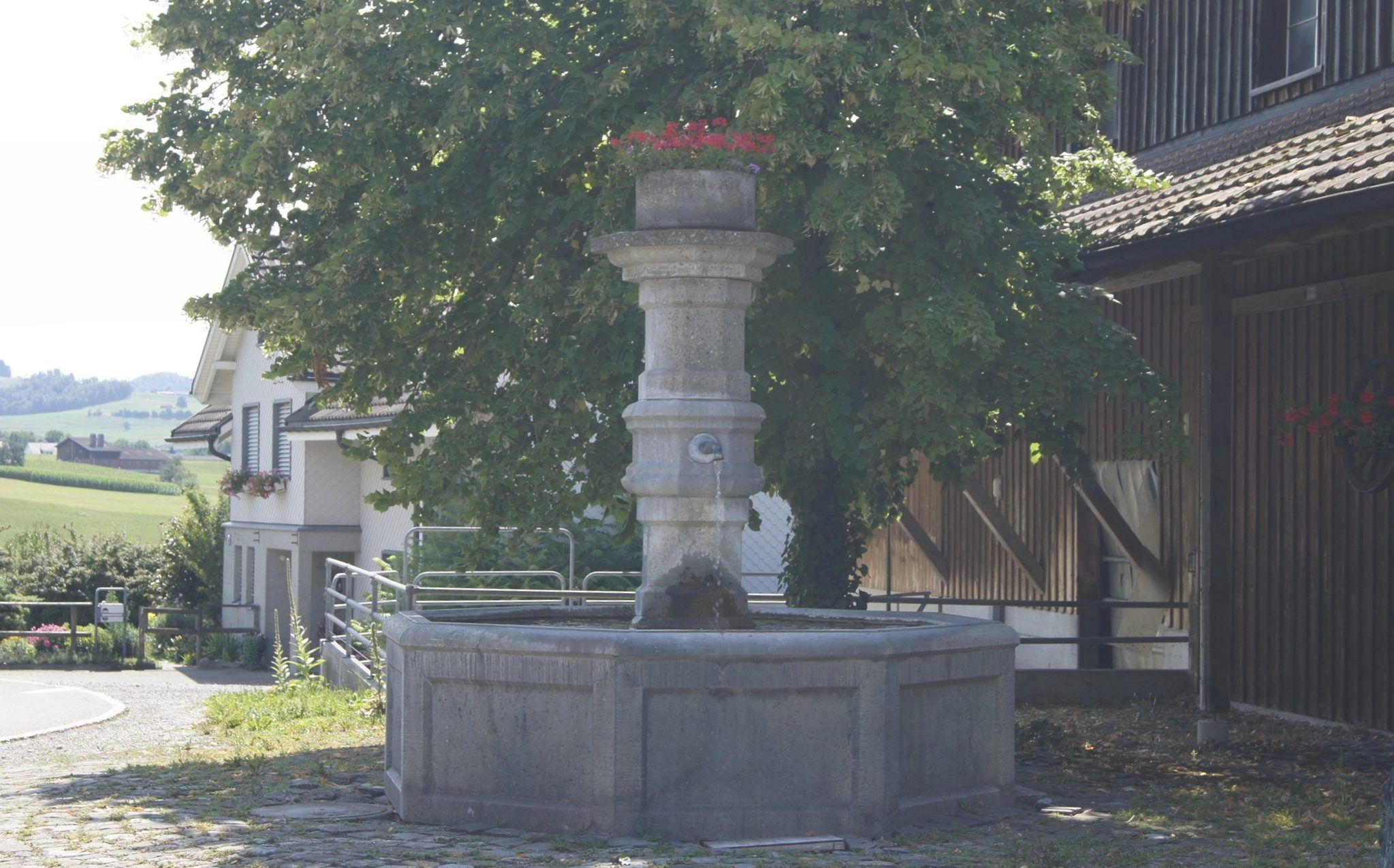Schmucker Dorfbrunnen in Bettenau
