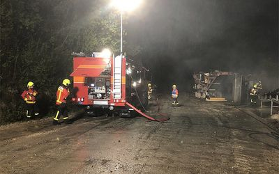 Förderband in Brand geraten